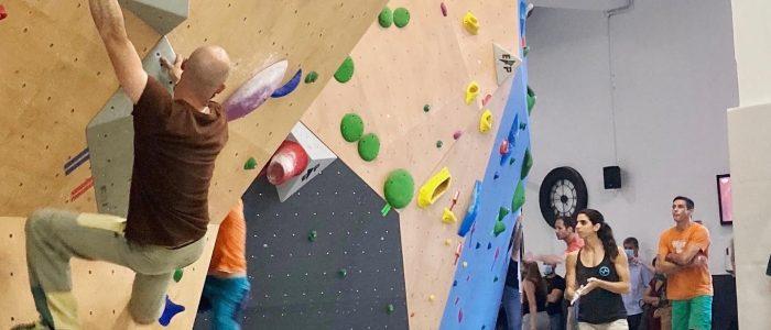un des 3 espaces de grimpe du Club Oxygène